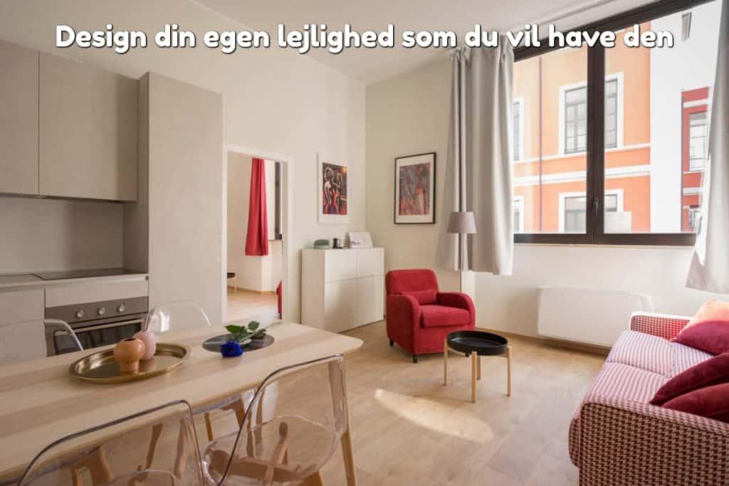 Design din egen lejlighed som du vil have den